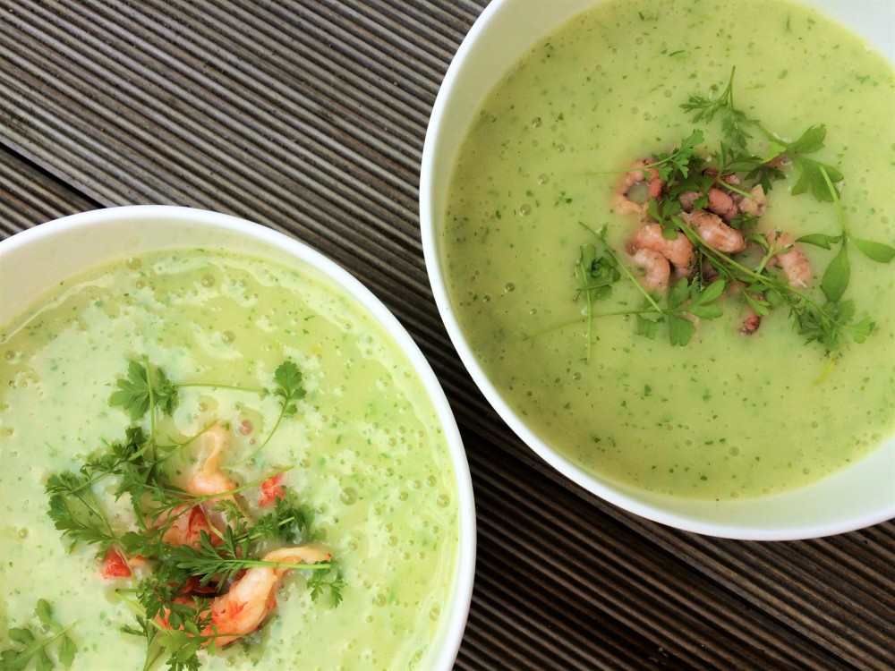 Kresse-Wasabi-Suppe